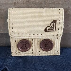 Roxy corduroy light kahki colored wallet